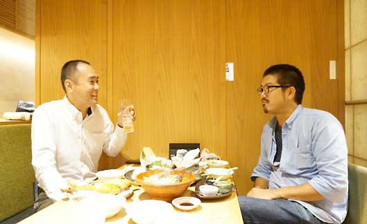 森野誠之氏(左)と本誌編集長 瀧川正実(右)
