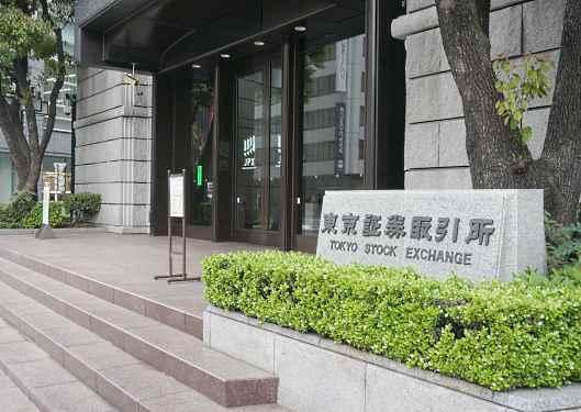 Hamee(ハミィ)の上場セレモニーが開かれる東京証券取引所(東証)