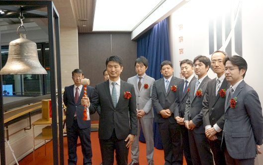 Hamee(ハミィ)の上場セレモニーが開かれる東京証券取引所(東証)⑬