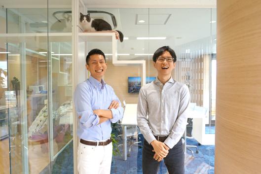 株式会社オーリーズ 代表取締役の鈴木 多聞さんと取締役副社長 足立 誠愛さん