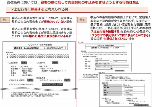 定期購入契約に関する表示義務の追加・明確化(「ガイドライン」)