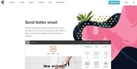 MailChimpのグラフィックデザイン例