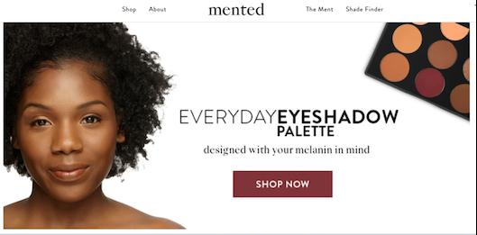 Target店内で商品を販売するコスメブランド「Mented Cosmetics」