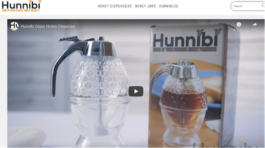 Hunnibi社のサイトトップページ