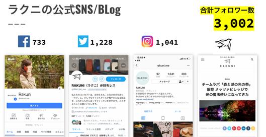 ラクニの公式SNSとブログ