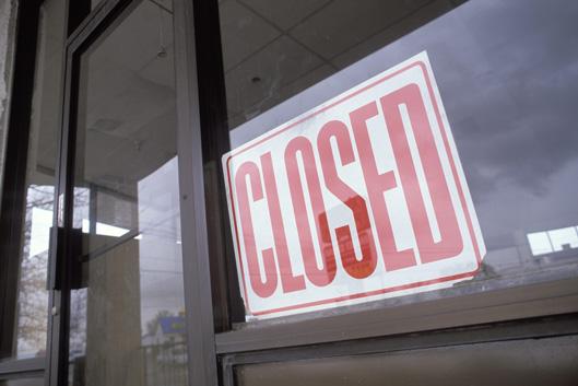 ショッピングモールの閉店イメージ