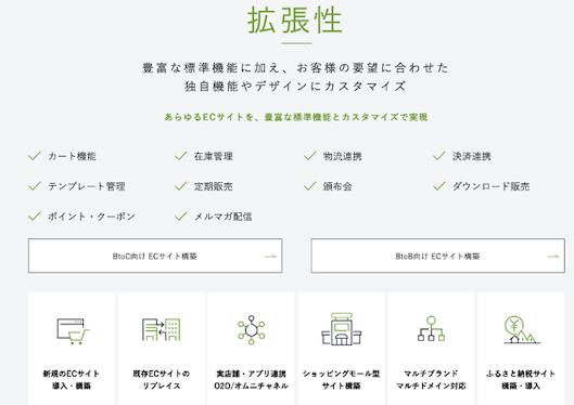 クラウド型ECプラットフォームebisumartの特徴
