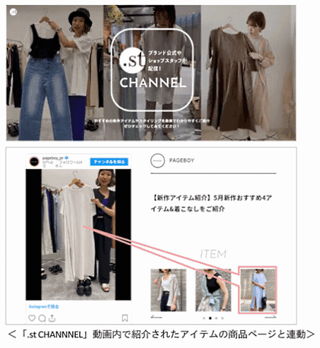 アダストリア Instagramの投稿動画をアーカイブする「.st CHANNEL」