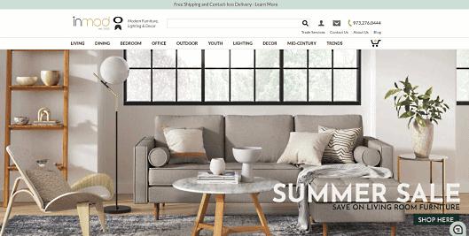 家具ブランドのECサイト「Inmod.com」