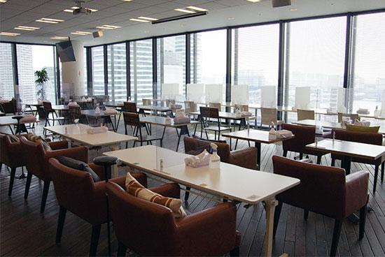 アスクル ASKUL オフィスリニューアル カフェテリア パートナー企業にも配慮した施設