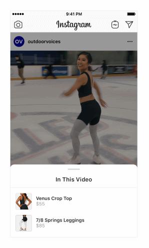 Instagramは動画にもショッピングタグを付けられるようにアップデート