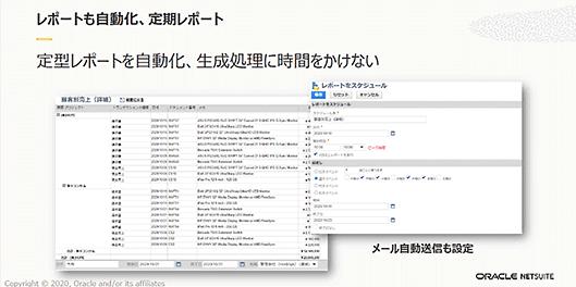日本オラクル オラクル oracle NetSuite 業務効率化 NetSuiteは定型レポートを自動化する