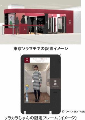 東京ソラマチに設置した「ウェアラブル クロージング バイ アーバンリサーチ」のイメージ
