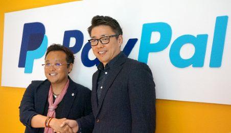 売れるネット広告社の加藤公一レオ社長と、PayPalの橋本知周氏(ラージマーチャント セグメント 統括部長)