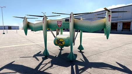 ヤマトホールディングスは荷物を電動式の垂直離着陸機(eVTOL機)で運ぶ「空の輸送」の実現をめざす