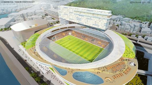 ジャパネットHDが進めているオフィス・商業施設・ホテル・マンションなどを併設した「長崎スタジアムシティプロジェクト」