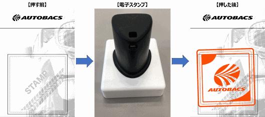 オートバックスは電子スタンプを導入し、スマートフォンで受け取り確認画面を提示するだけで受け取りを完了できるようにする
